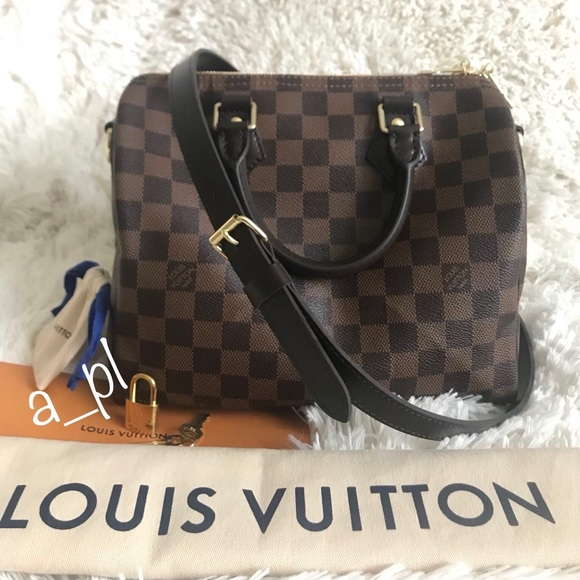 5cdbabb6a904 Louis Vuitton Handbags - Speedy 25 Bandouliere Damier Ebene 2017